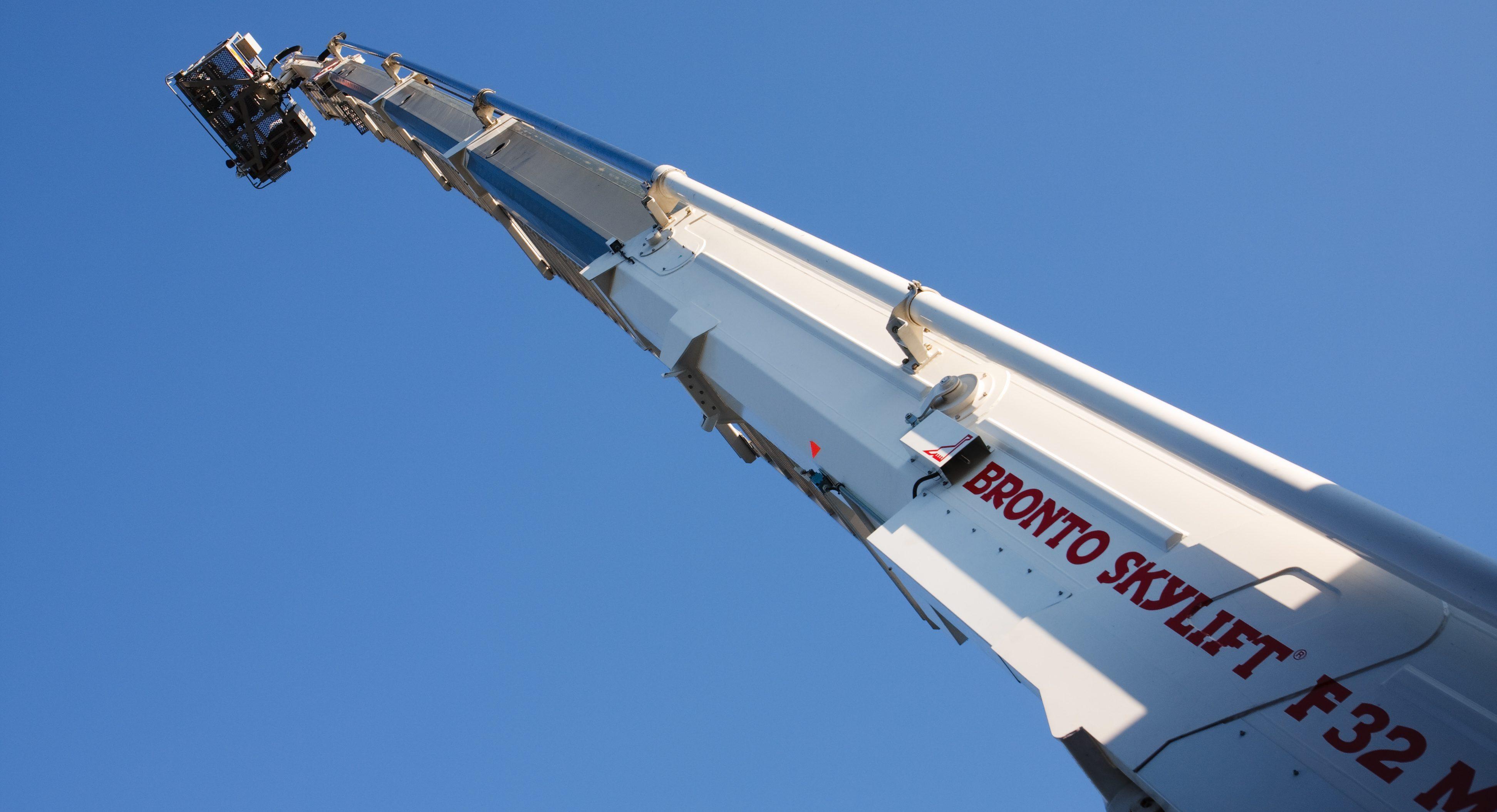 Teleskoparm eines Hubrettungsfahrzeuges, ausgefahren