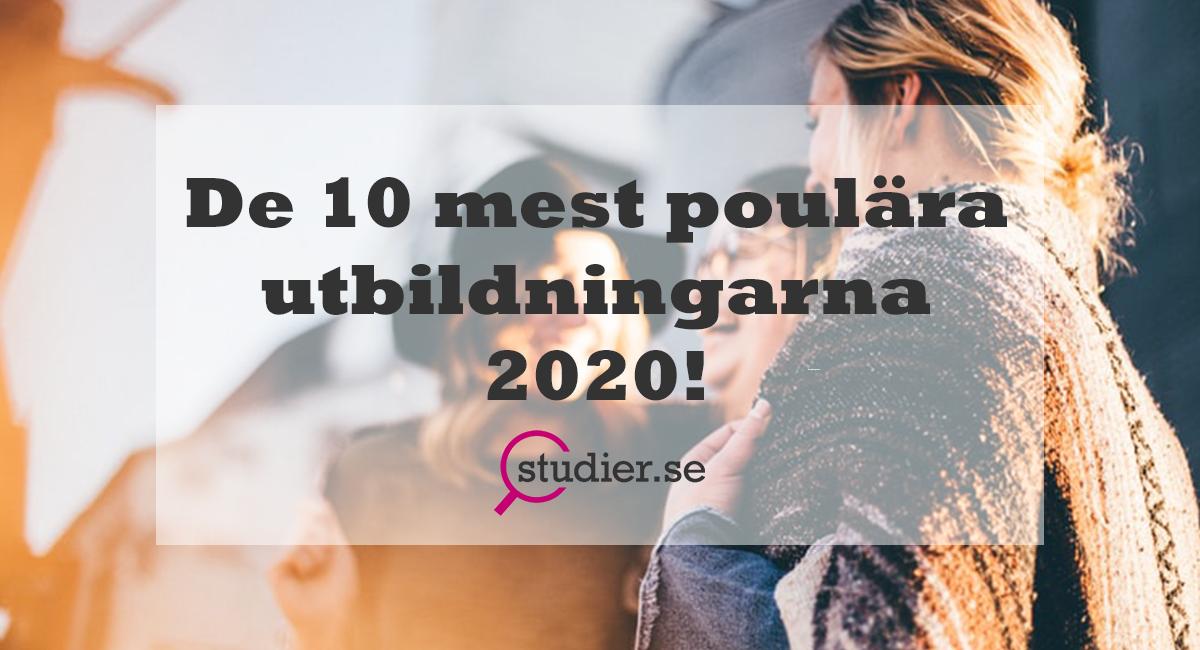 Populära utbildningar 2020