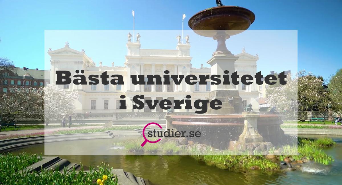 Bästa universitetet i Sverige