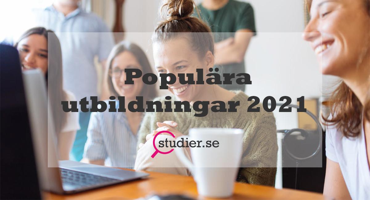De 25 mest populära utbildningarna 2021_
