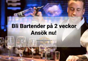 Bartender utbildning i Malmö